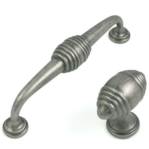 kitchen cabinet or cupboard pewter finish door drawer d handles or knobs kitchen