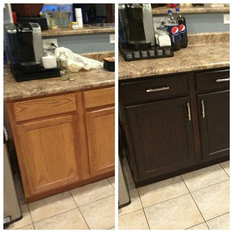 refinishing stained kitchen cabinets re staining of cabinets kitchen pinterest cabinets