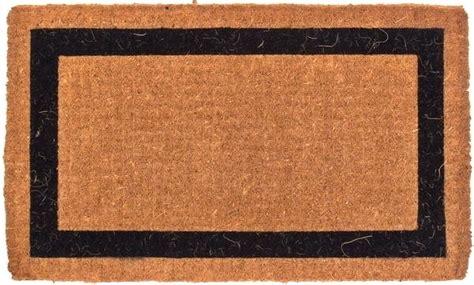 Black Coir Doormat by Coco Door Mat Coco Coir Mat With Single Border Coco