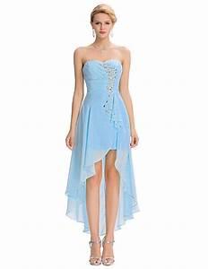 Princess robe bal de promo high low evening dress front for Bal de promo américain robe