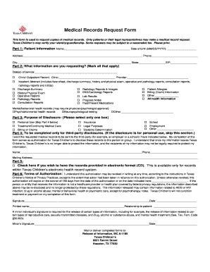 sample medical records request forms forms document