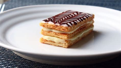 napolean pastry mille feuille napoleon pastry sheets video allrecipes com