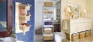 Panier Rangement Salle De Bain : 12 super id es de rangement pour mieux organiser votre salle de bain ~ Teatrodelosmanantiales.com Idées de Décoration