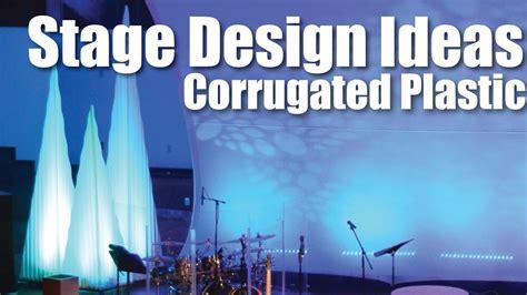 church stage design ideas corrugated plastic