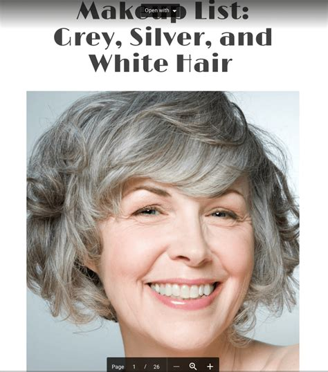 Makeup List: Grey Silver and White Hair Types Short