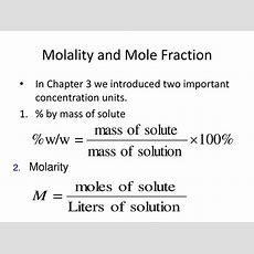 Ppt  Molality And Mole Fraction Powerpoint Presentation Id259070