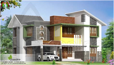 modern style house elevation architecture kerala