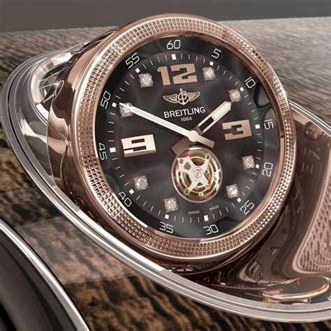 bentley breitling clock the bentley linley her by mulliner a chagne