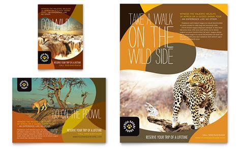 african safari flyer ad template word publisher