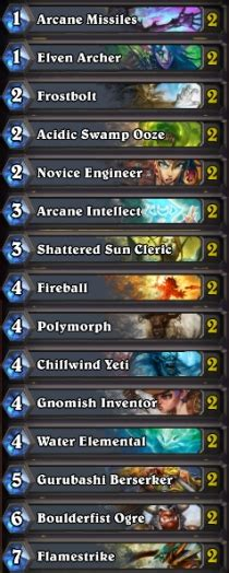 Hearthstone  Best Free Mage Deck, Basic Deck, Mage Cards