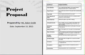8 project proposal template word timeline template With software project proposal template word