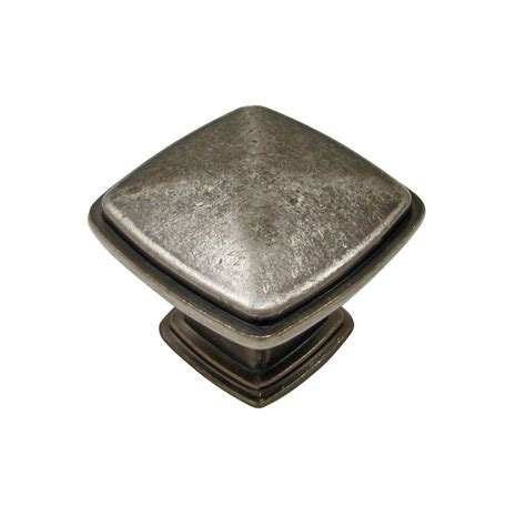 home depot cabinet knobs hickory hardware cavalier 1 1 8 in antique pewter cabinet