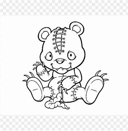Coloring Scary Pages Transparent Toppng Background Whitesbelfast