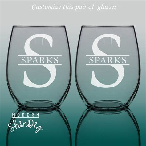 pin  modern shindig  bride  groom custom wine glasses stemless wine glasses wine