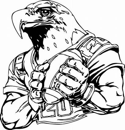 Coloring Pages Football College Eagles Mascot Logos