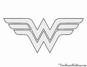 Wonder Woman Symbol Stencil | Free Stencil Gallery
