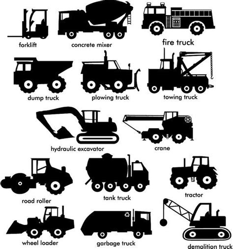 Construction Trucks Wall Vinyl Decals Vol 1 And 2 By