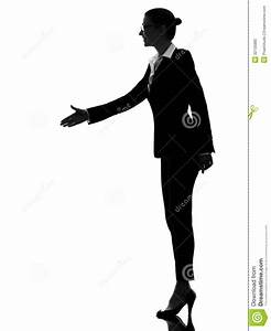 Business Woman Handshake Silhouette Stock Photo - Image ...