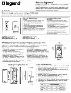 Pass And Seymour D B A Legrand Rwc826usb Duplex Receptacle
