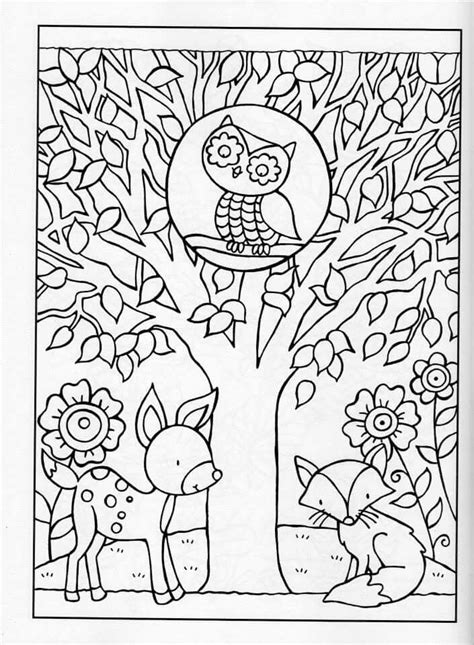 Kleurplaat Herfst Dieren Volwassenen by Coloring For Adults Kleuren Voor Volwassenen Coloring