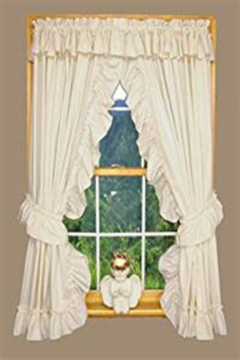 Amazon.com: Heather Ruffled Priscilla Window Curtains Pair