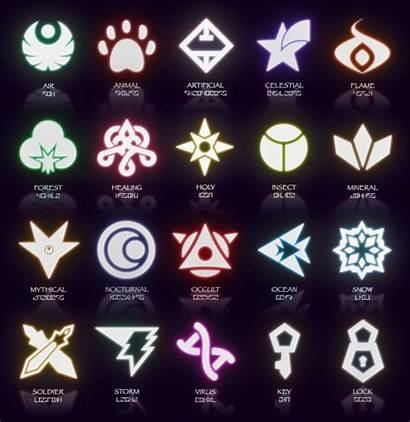 Symbols March Icycatelf Magic Elemental Types Fantasy