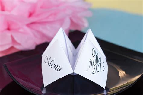 diy d 233 co de table menu origami pliage