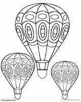 Balloon Coloring Air Adult Printable Coloringhome sketch template