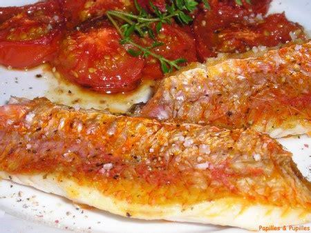 cuisiner le maquereau au four filets de rougets aux tomates confites