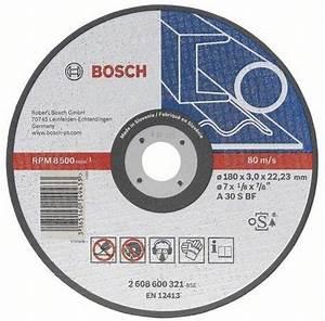 Disque A Tronconner : bosch disque tron onner droit m tal disque meule ~ Dallasstarsshop.com Idées de Décoration