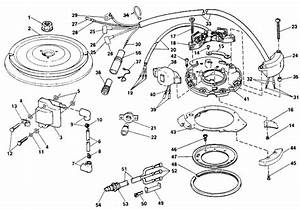 Johnson Ignition Parts For 1989 25hp J25rwk Outboard Motor