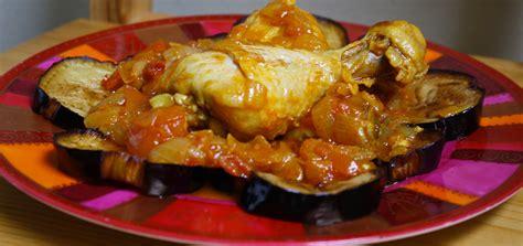 recette de cuisine de poulet tajine de poulet et aubergines à l 39 algérienne cuisine du