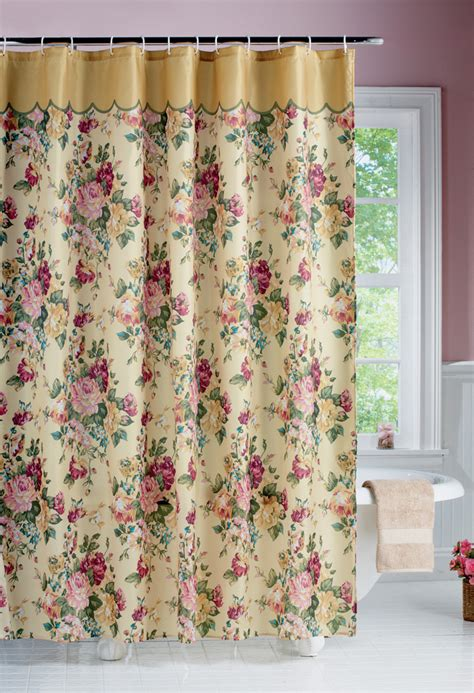 vintage shabby chic shower curtain country ebay