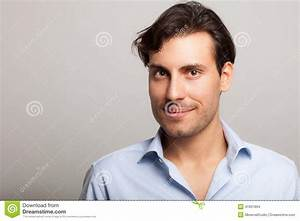 Smiling Young Handsome Man Portrait Stock Photo - Image ...