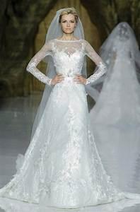 elie saab wedding dress 2014 pronovias bridal 8 onewedcom With elie saab wedding dresses