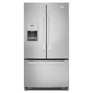 shop whirlpool gold 19 7 cu ft counter depth door refrigerator with maker