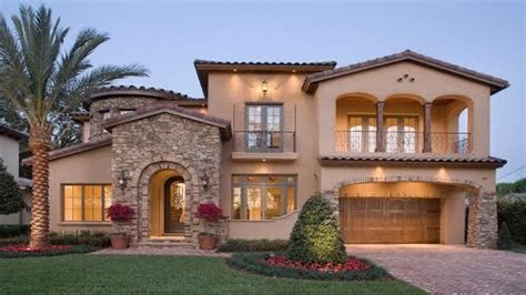 Types Exterior Doors, Spanish Mediterranean House Plans