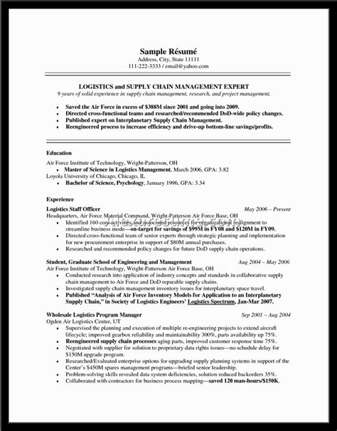 Supply Chain Manager Resume Template by Customer Service Manager Position Resume Document Part 5