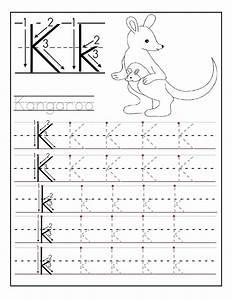 printable letter k tracing worksheets for kindergarten With traceable letters for crafts