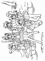Sailor Moon Coloring Pages Sailormoon Tv Series Kleurplaat Force Glitter Animated Coloriage Fun Print Gifs Picgifs Printable Last sketch template