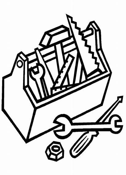 Tools Coloring Construction Pages Carpenter Clipart Herramientas