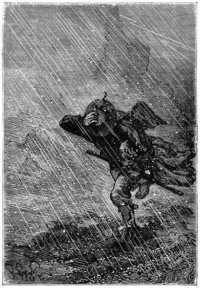 Jules Verne Island Mysterious Illustrations Ran Illustration