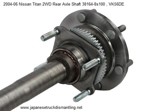 nissan titan axle shaft  rear wd