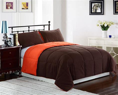 bright  burnt orange  brown comforter bedding sets