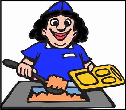 Clipart Canteen Staff Lunch Clip Cafeteria Animated