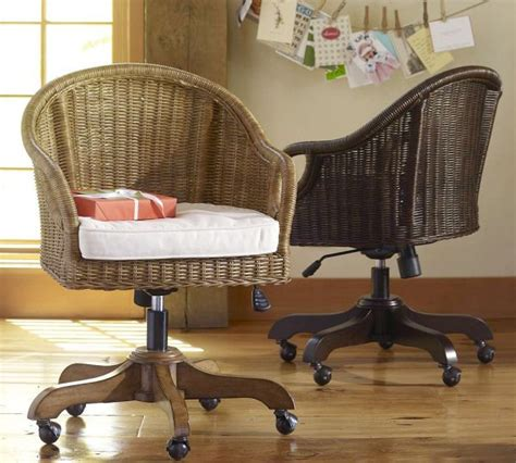 rattan swivel desk chair home decorating trends homedit