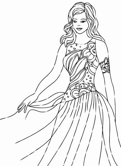 Coloring Princesses Pages Children Justcolor