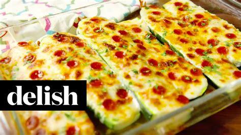 Zucchini Boats Pizza by How To Make Pizza Zucchini Boats Delish