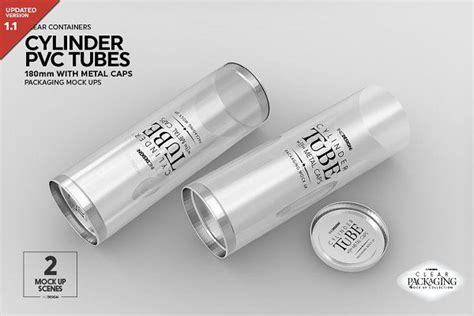 Free for personal and commercial use. 180mm Cylinder Tube Packaging Mockup | 제품