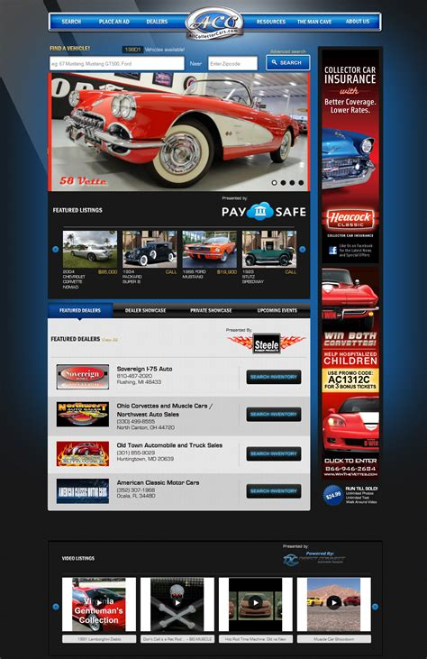 New Car Websites by Allcollectorcars Re Launches The Fastest Growing
